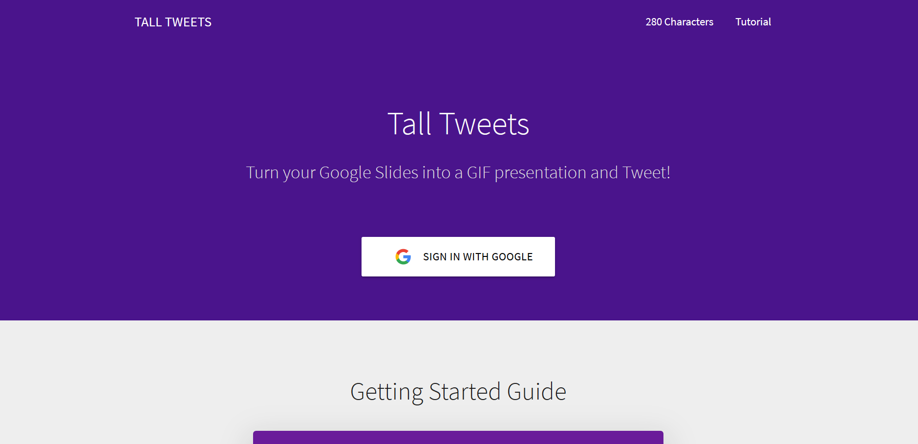 tall tweets an online app to convert google slides into gif and tweets
